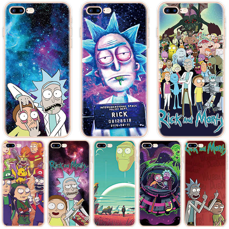 Rick e morty caso para iphone 7 plus para iphone x xs max caso para iphone 6 s 6 7 8 plus tpu macio capa para iphone xr 11 pro max