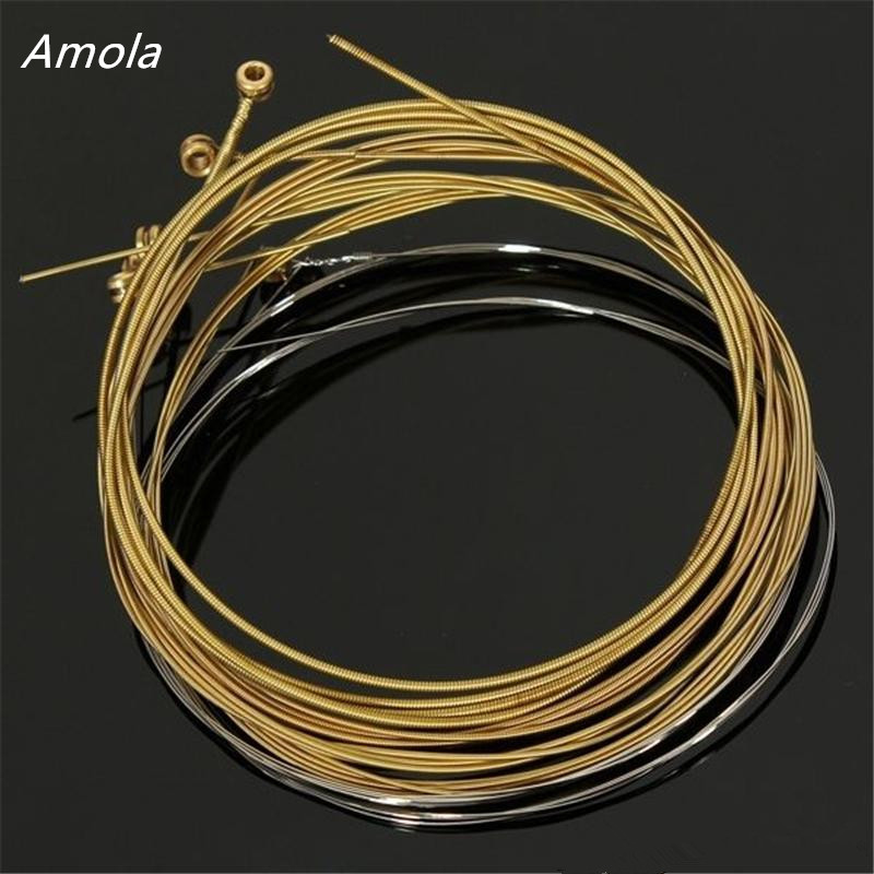 Original Amola A60XL 010-048 Stainless Steel  Strings Acoustic Guitar Strings 1st-6th Strings Musical Instruments1 sets 3 sets alice aw466 light acoustic guitar strings plated high carbon steel