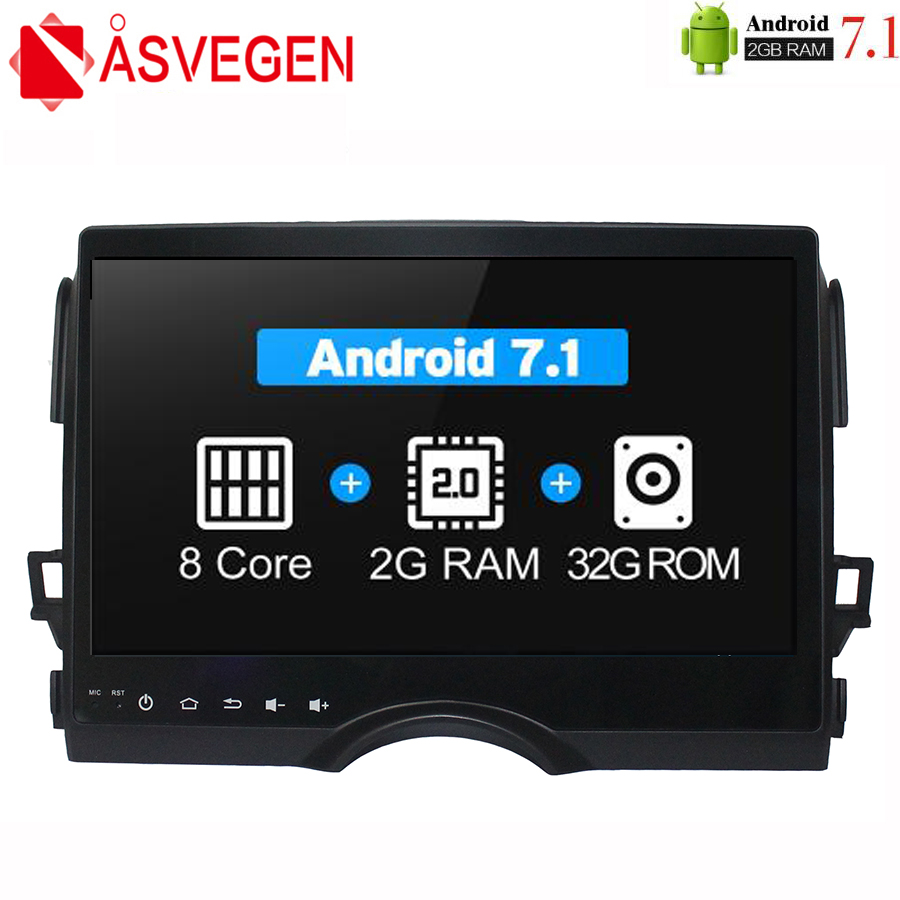 Asvegen Android 7.1 Octa Core Car Radio For Toyota REIZ 2010 2016 2 din Car Stereo Multimedia DVD PC head Unit GPS Navigation