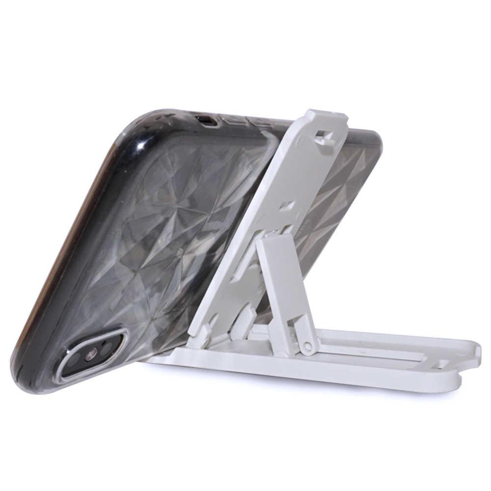 NYFundas Mini plegable soporte de teléfono plegable para iphone 8 8 7 6 6 S Plus X 5S Samsung Gaxary S9Plus s8 S 9 accesorio de escritorio