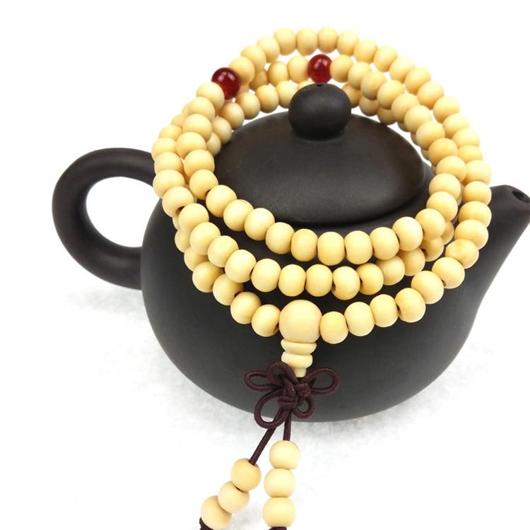 6mm natural sândalo buda budista meditação 108 contas de madeira oração grânulo mala pulseira feminino jóias masculinas