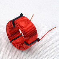 1pcs 0.8mm 3.7mH 5.5mH Audio Amplifier Speaker Crossover Inductor 4N Oxygen Free Copper Wire Coil #Red