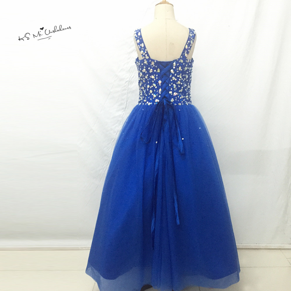 Vestidos infantis royal blue junior bridesmaid dresses ball gown vestidos infantis royal blue junior bridesmaid dresses ball gown flower girl dress crystal lace up child brithday prom gowns in flower girl dresses from ombrellifo Image collections