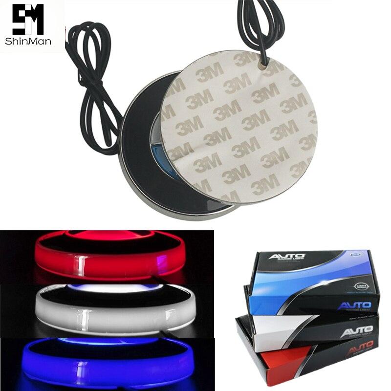 Shinman For BMW 4D Emblem Light Lamp Led Back Rear 4D Badge Sticker Light 8.2cm Size White/blue/red 4D Led Logo Light Emblems
