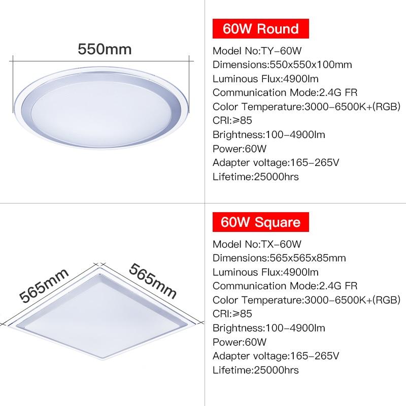 Modern Led Ceiling Light 25w Smart Remote Control Rgb Dimmable Color Changing Lamp For Livingroom Bedroom Ac165-265v Ceiling Lights & Fans