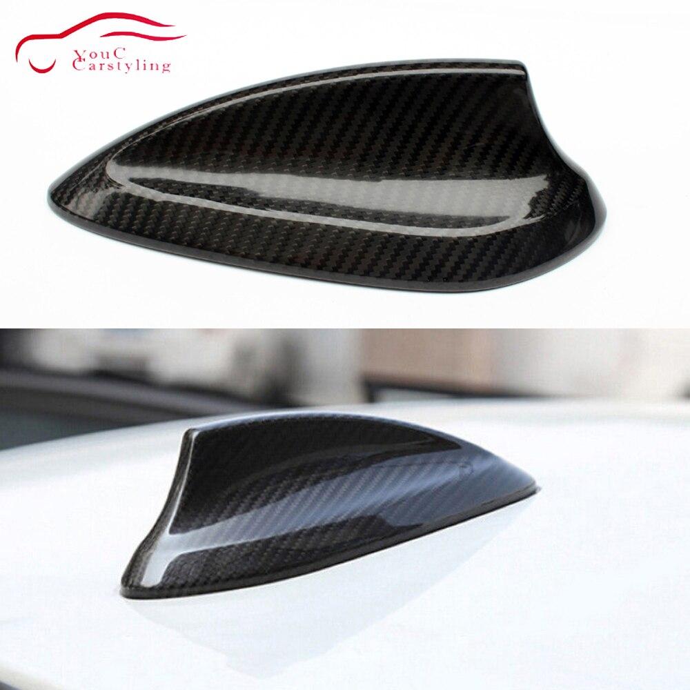 Universel En fibre de Carbone Antenne Aileron De Requin pour BMW F20 F45 F46 f48 F26 F15 F16 X4 X5 X6 X5M F85 X6M F86 Style De Voiture