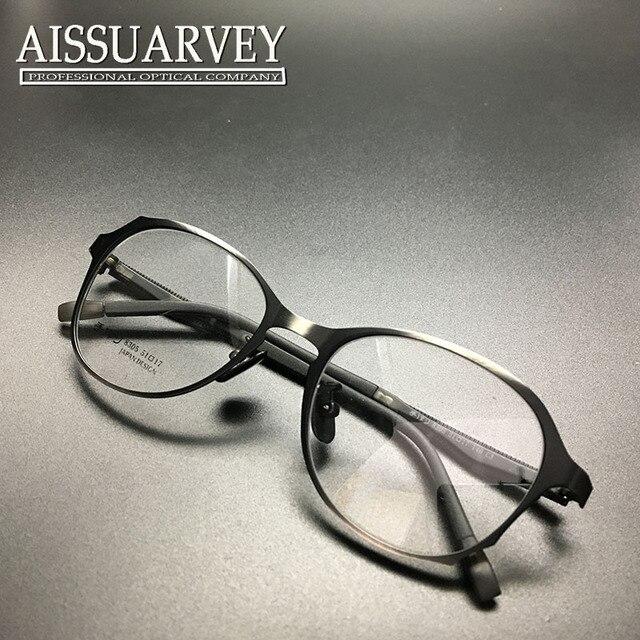 fda5a7fc84 Marco de anteojos mujeres hombres ventage prescripción óptica gafas de marco  redondo del círculo del metal