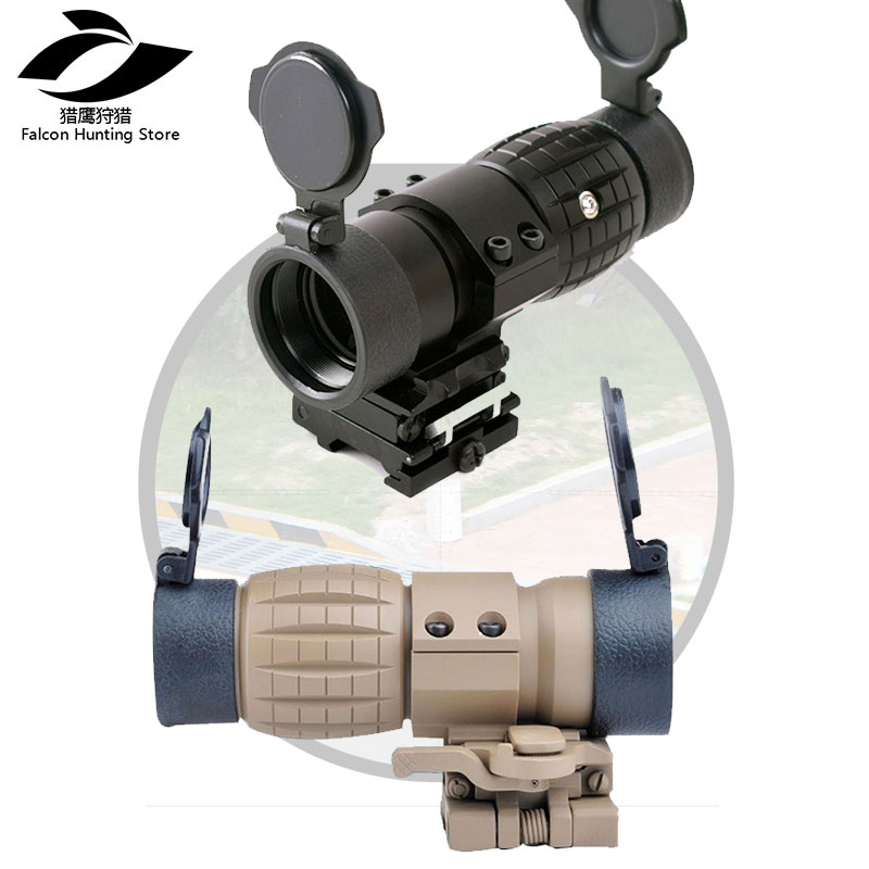 Ak rifle scope weapon Red Dot Sight Scope 3X Magnifier with Flip up Side Picatinny Rail Mount Hunting купить в Москве 2019