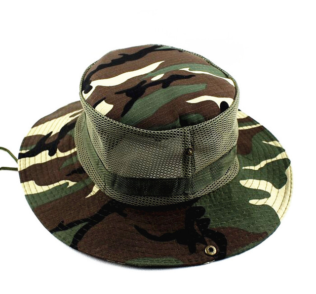 Xongkoro Camouflage Hat Men Tactical Bucket Hats Breathable Climbing Bonnie  Hats Fishing Sunbonnet CS Combat Gear ebf379cfd7c