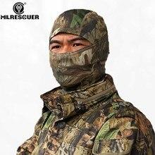 MILRESCUER Rattlesnake Taktická helma Airsoft Lovecká bojová hra Dýchání Dustproof Face Balaclava Maska Lyžařská cyklistika Full Hood