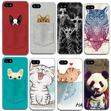 Cute Cat Soft Phone Bag For Apple Iphone 7 7Plus 6 6S 5 5S SE TPU Cases Silicon Thin Capa Funda Shell Cases For Iphone7 Plus