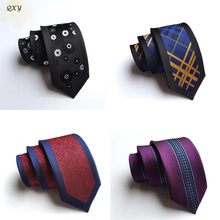 ties for men new jacquard plaid polyester leisure narrow necktie positioning mens tie silk Clothes accessory DW