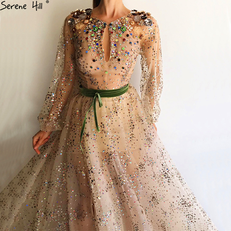 Sexy Arabic Off Shoulder Long Gliter Sequin Mermaid Formal Evening Prom Party Gown Dress Engagement Evening Dresses 2018 BLA6601