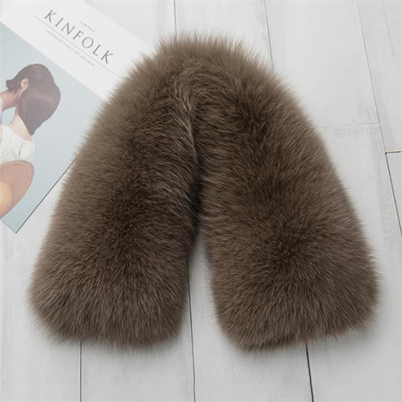 Hot Sale women's clothing collar accessories fashion fur fox Scarves 100% Real Fox Fur Collar square 50cm