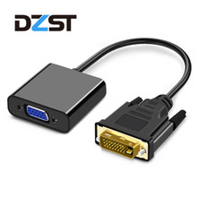 DZLST DVI to VGA Active Full HD 1080P Male to Female DVI-D 24+1 to VGA Cable 25 Pin Video Converter for Laptops TV Projector PC
