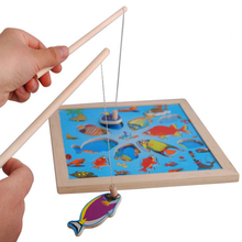 2016 outdoor fun & sports magnetic woody fishing puzzles toy learning & educationfishing games gift for child