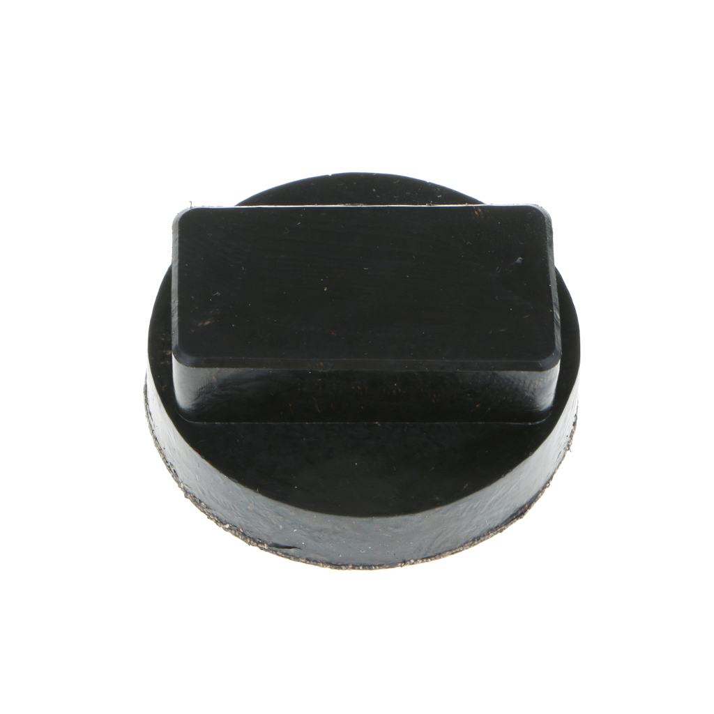 """Image 2 - 2.36"""" x 2.16"""" x 1"""" Black Car Rubber Jack Pads Tool Jacking Pad Adapter For BMW Mini R52/53/55 AF Etc Jack Pads Accessories"""
