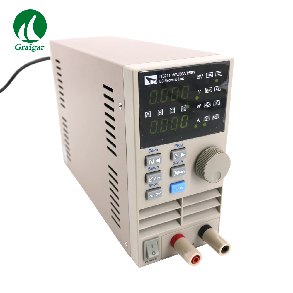 Digital Controlling Electronic Load IT8211 Digital Control DC Single Channel Electronic Loads
