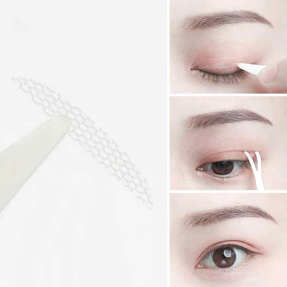 48Pcs/Sheet Traceless Invisible Lace Net Double Eyelid Tapes Adhesive Stickers