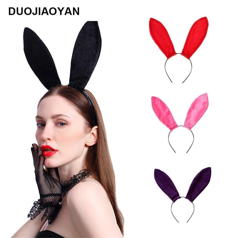 12 PCS Furry Soft Bunny Rabbit Ears headbands Rave Party Favors