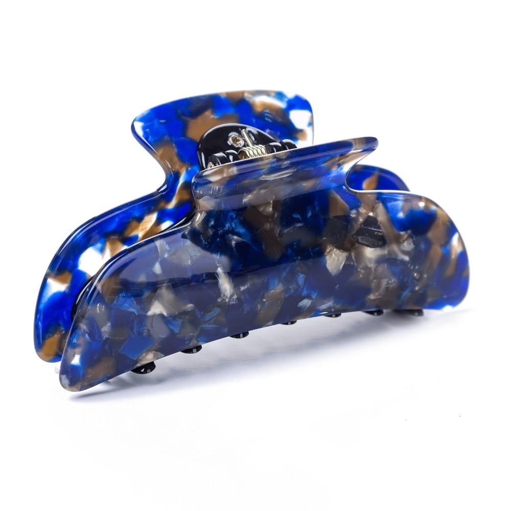 Safira 9.5 centímetros Grande Garra Do Cabelo Artesanal de Luxo Francês Design de Moda Tortoise Shell Acessórios Grampo de Cabelo Das Mulheres