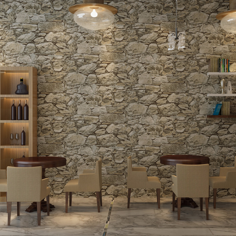 Vintage Non-woven Wallpaper Roll Old Marble Stone Wall Paper for Restaurant Cafe Decoration Wall Papel De Parede Wallcoverings wallpaper modern anchos travelling boat modern textured wallcoverings vintage kids room wall paper papel de parede 53x1000cm