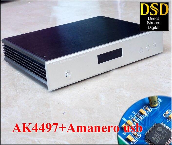 Digital-analog-wandler Streng High Definition Ak4497 Audio Decoder Hallo-fi Amanero Usb Dac Dsd256 Pcm384k 32bit Desktop Verstärker