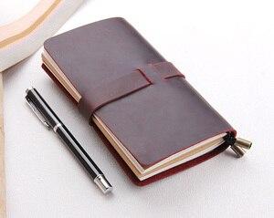 Image 2 - Skórzany dziennik, wykonane na zamówienie, rocznika wielokrotnego napełniania dziennik podróży, skóra notebooka podróżnika