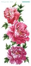 QC684 20X10cm Long HD Women Makeup Tatuajes Tattoo Sleeves Body Art Pink Chinese Rose Temporary Flash Tatoos Sticker Tatuagem