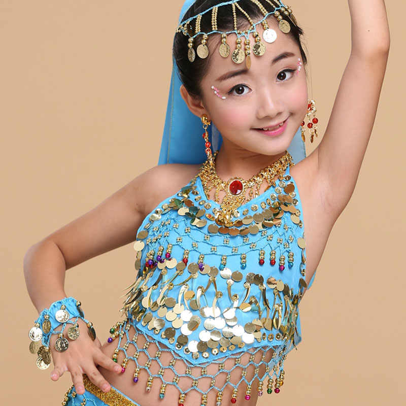 e8433840 HS13 Aged 5-14 Years Old Sexy Sequins Indian Dress Costumes Professional Belly  Dance Lingerie