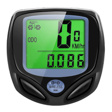 купить Wireless bike computer bicycle computer waterproof odometer speedometer LCD screen display Battery Not Include дешево