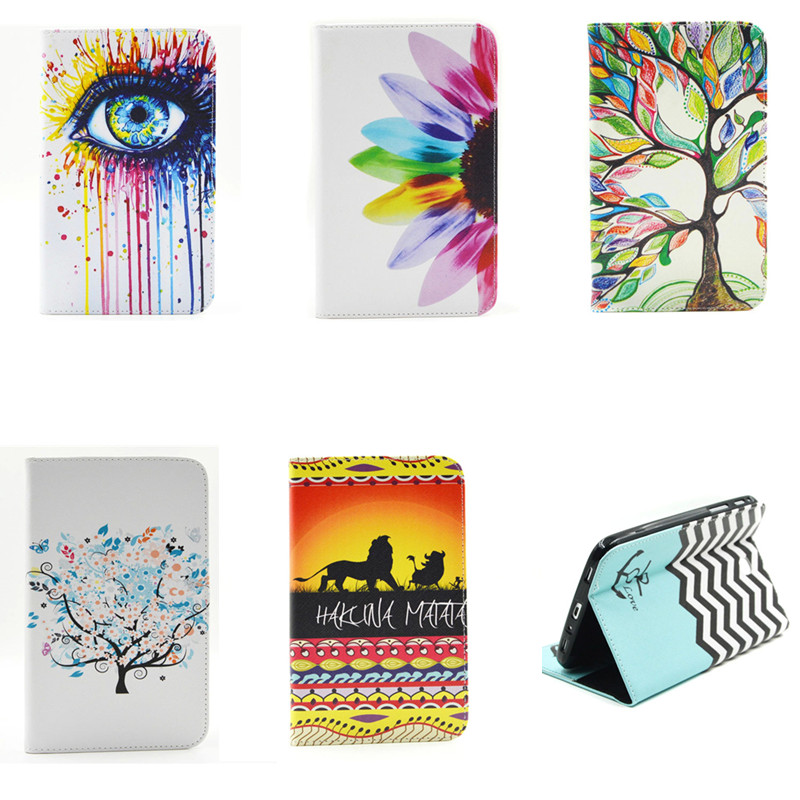 BF Fashion Colorful PU Leather Flip Stand Case Full Body Protective Cover for Samsung Galaxy Tab 3 7.0 inch T210 T211 P3200