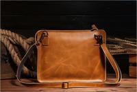 Envelope Package 2017 Cow Genuine Leather Messenger Bags For Men Handbags Men Clutch Ipad Bag Brown