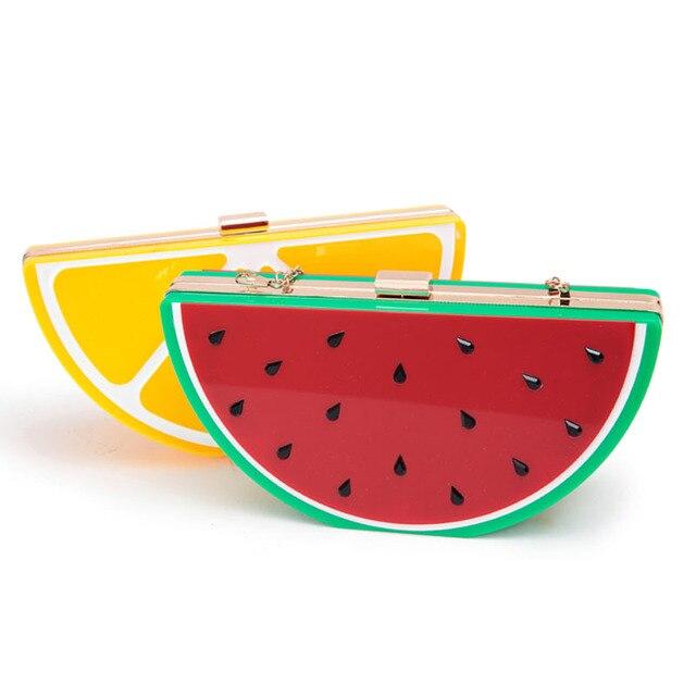 Lady Cross Body Bags Fruit Designer Handbag High Quality Chain Shoulder Bag Lady Evening Bag Watermelon Lemon