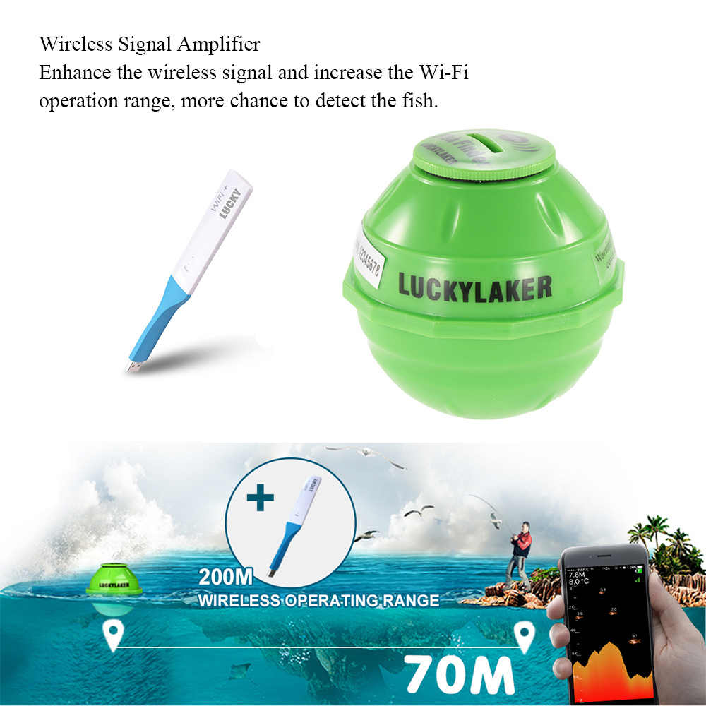 Wifi Draadloze Finder Voor Onderwater Vis Jacht Dieper Sonar Fishfinder Met App Echolood Vissen Alarm Voor Vis Sensor