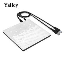 YAHEY USB 3.0 Ultra Slim Portable CD-ROM Player laptop Optical Drive DVD+/-RW Burner Writer External DVD Drives for Computers