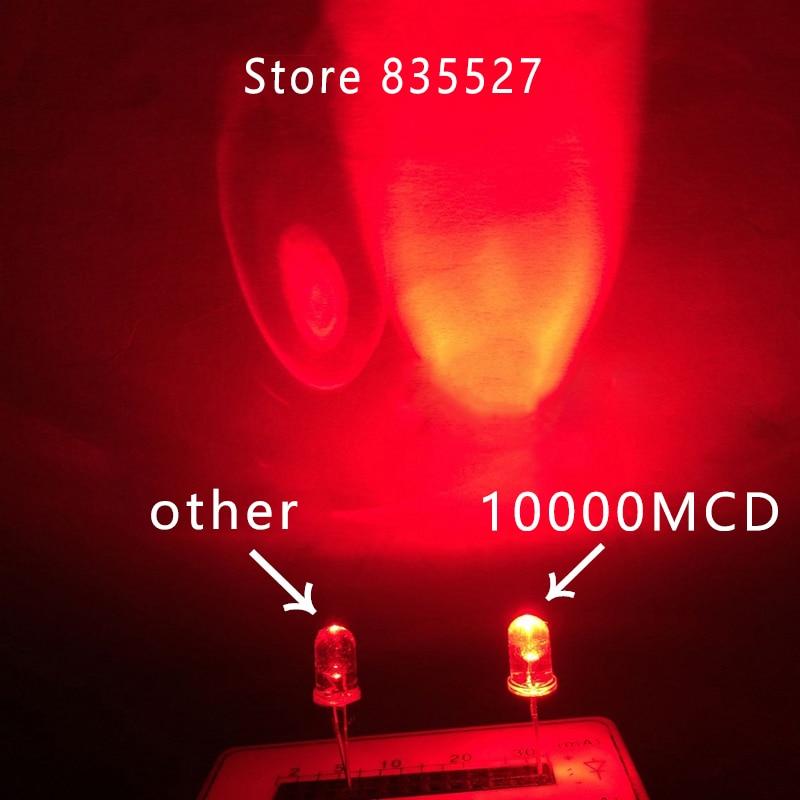 100 pcs SMD SMT 0805 Super bright Red LED lamp Bulb NEW