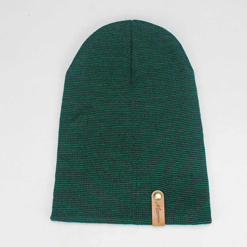 f20a73c27 Winter Beanies Solid Color Green Hat Unisex Plain Warm Soft Beanie Skull  Knit Cap Hats Knitted Touca Gorro Caps For Men Women