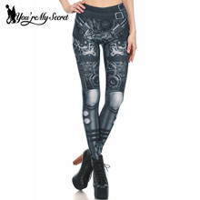 [Youre My Secret] Fashion Woman Steampunk Cosplay Classic Series Leggins Gear Of War Digital Printed Women Leggings Wholesalers