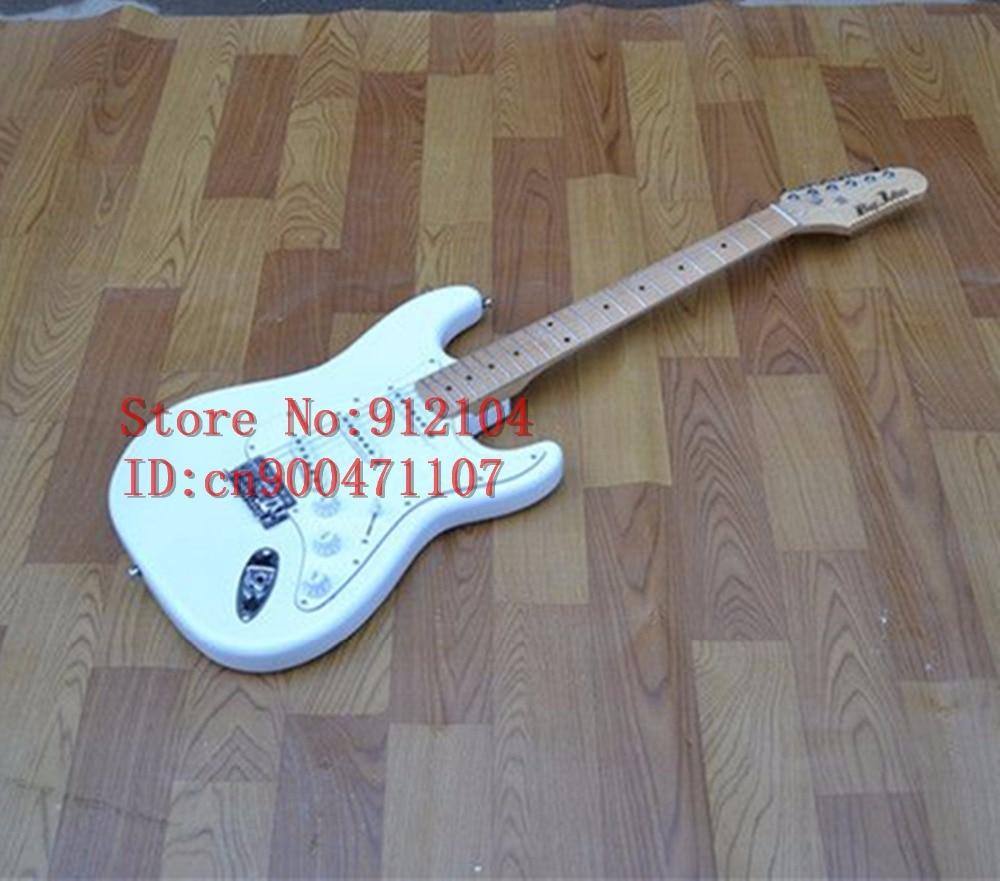 new Big John single wave  electric guitar in white with maple fingerboard  F-1045new Big John single wave  electric guitar in white with maple fingerboard  F-1045