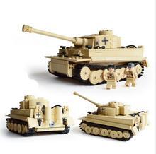 995pcs Century Military German King Tiger Tank Cannon Building font b Blocks b font Bricks Model