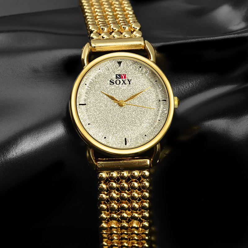 SOXY Top Brand Watches Luxury Gold Watch Women Watches Full Steel Bracelet Ladies Watch Clock saat relogio feminino montre femme 2017 new hot sell women bracelet watches fashion lady gift rose gold rhinestone designer top luxury brand soxy relogio feminino