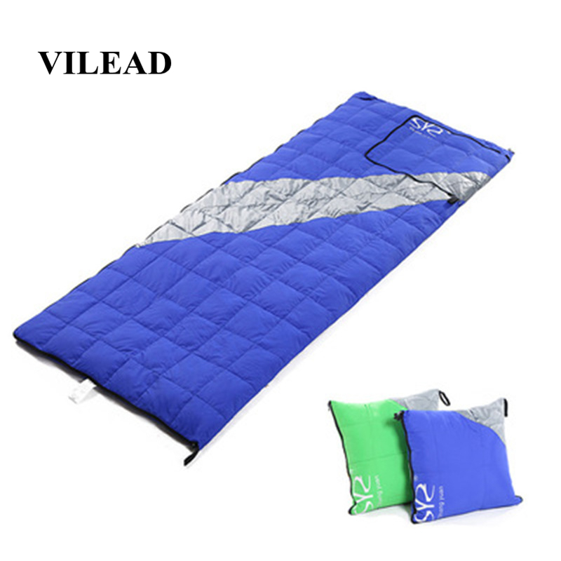 Image 3 - VILEAD 2 Colors Duck down Sleeping Bag as Pillow Lightweight Camping Stuff Hiking Sleeping Winter Ultralight Adult Camp Quilt-in Sleeping Bags from Sports & Entertainment
