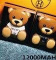 Новый Дизайн Марка Логотип M Медведь двойной USB выходная Мощность Банк Iphone 6 6 plus 5s Внешняя Батарея Зарядное Устройство Для IOS Android Телефоны