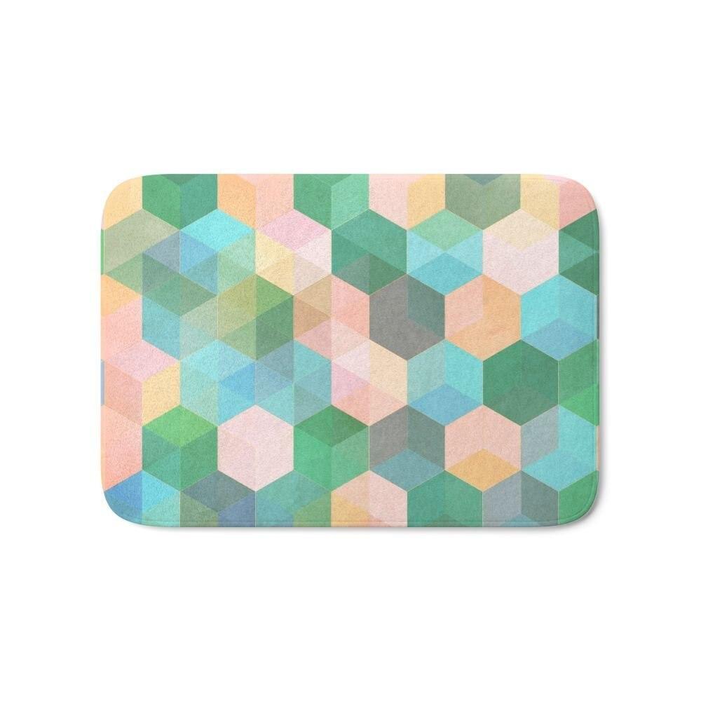 Child S Play Hexagon Pattern In Mint Green Pink Peach Aqua Bath