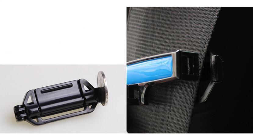 Image 5 - 2 個安全ベルトクリップシートベルトパッドバックル安全ストッパーベルトクリップ張力アジャスター自動 53 ミリメートル -    グループ上の 自動車 &バイク からの シートベルト & の中