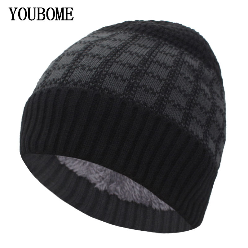YOUBOME Brand Women Knitted Hat Men   Skullies     Beanies   Winter Hats For Men Mask Gorros Bonnet Male Warm Thick Soft   Beanie   Hat Cap