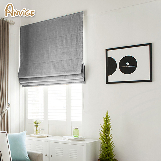 New Arrival Modern Cotton/Linen Cloth Roman Blinds Roman Shades For Living Room Window Curtains Free Shipping
