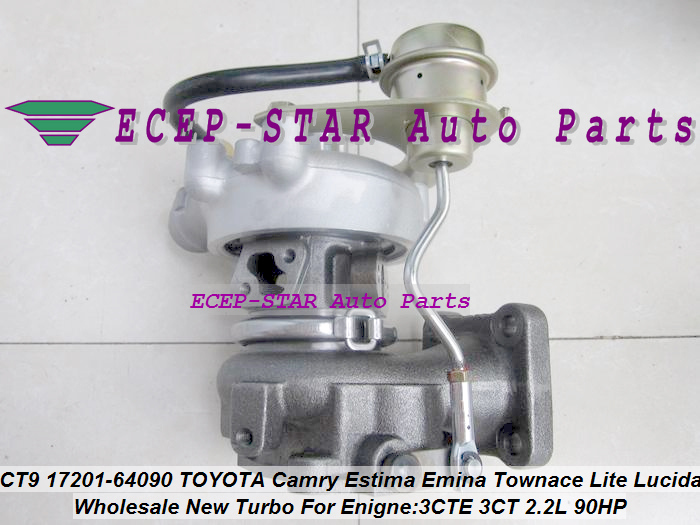 CT9 17201-64090 17201 64090 1720164090 Turbo Turbocharger For <font><b>TOYOTA</b></font> HIACE HILUX 2.4L LITE TOWN ACE TownAce 93-96 <font><b>3CT</b></font> 3C-T 2.2L image