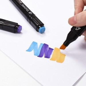 Image 5 - Touchnew Marker Pen 40/60/80/168 Kleur Set Tekening Schets Marker Alcohol Gebaseerd Zwart Body Art Supplies Met 6 Gifts Hot Koop